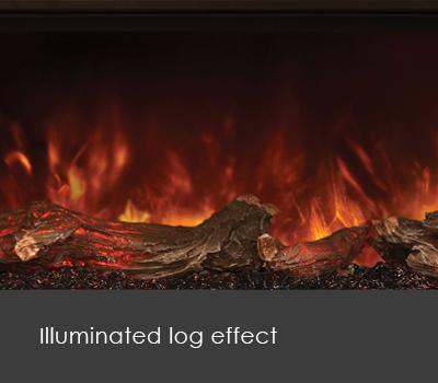 Modern Flames Log Effect