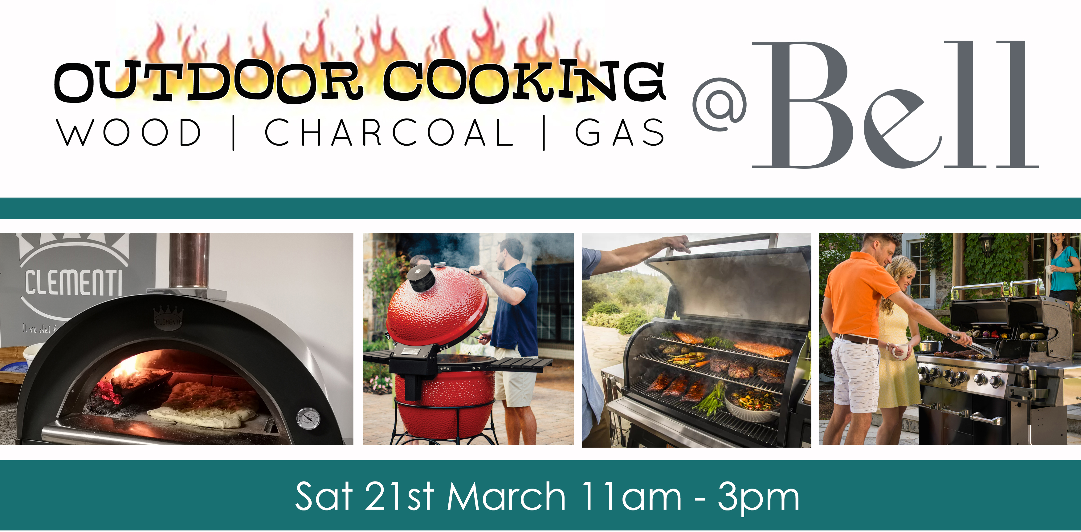 outdoor cooking flames sat 21st march, 11am til 3pm