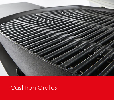 Porcelain cast iron grates