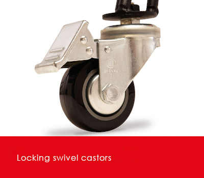 Locking castors