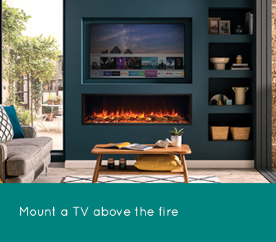 Mount under a TV