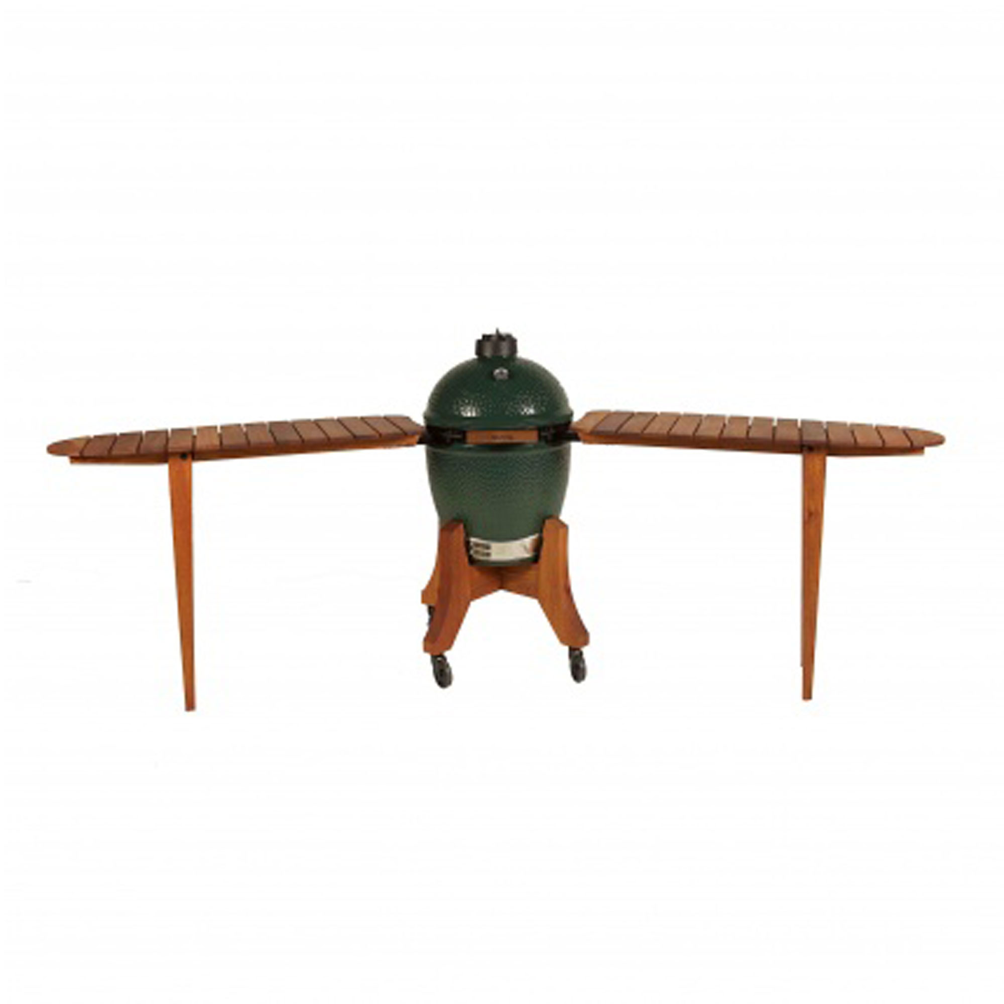 An image of Big Green Egg Large Royal Mahogany Detachable Bar Top Shelves