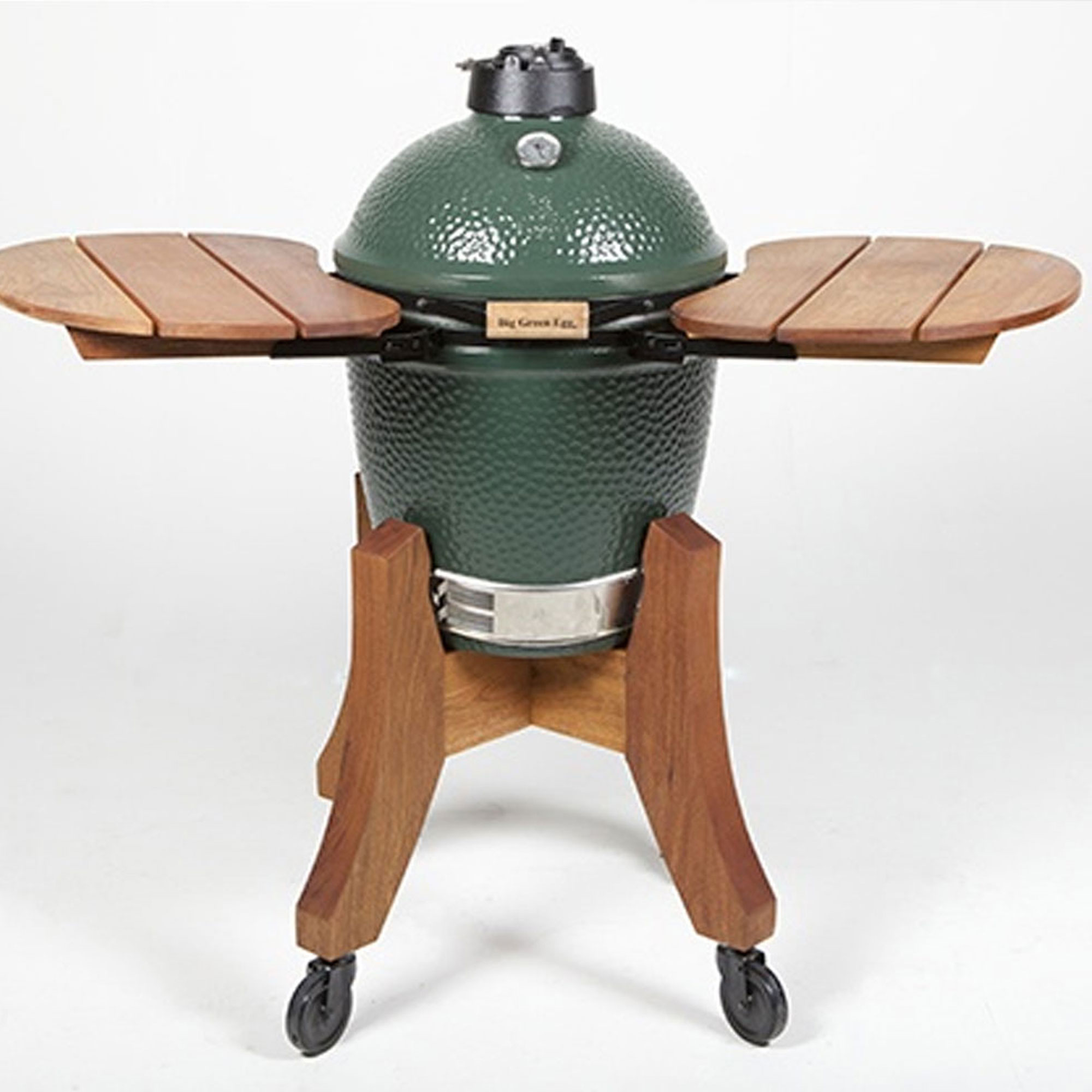 An image of Big Green Egg Large Royal Mahogany Shelves