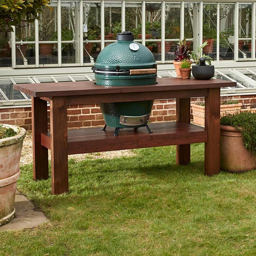 An image of Big Green Egg Large Royal Premium Mahogany Table Natural