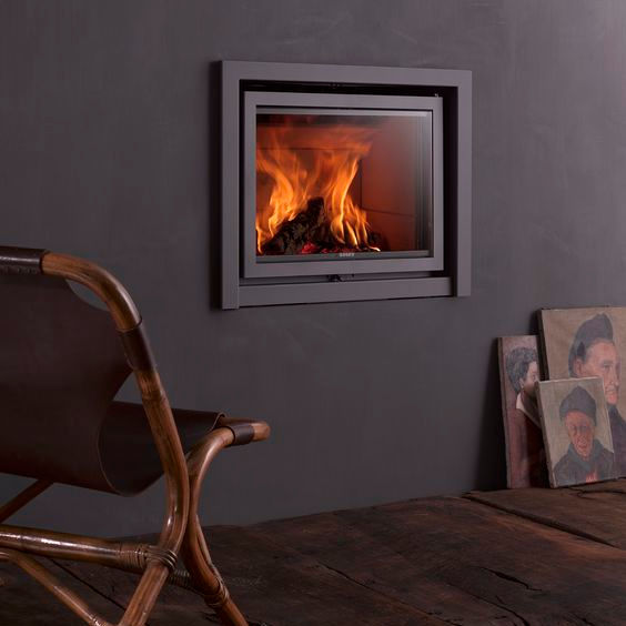 An image of Stuv Stoves - Stuv 16/58 Inset Wood Burning Stove - Without outside air connecto...