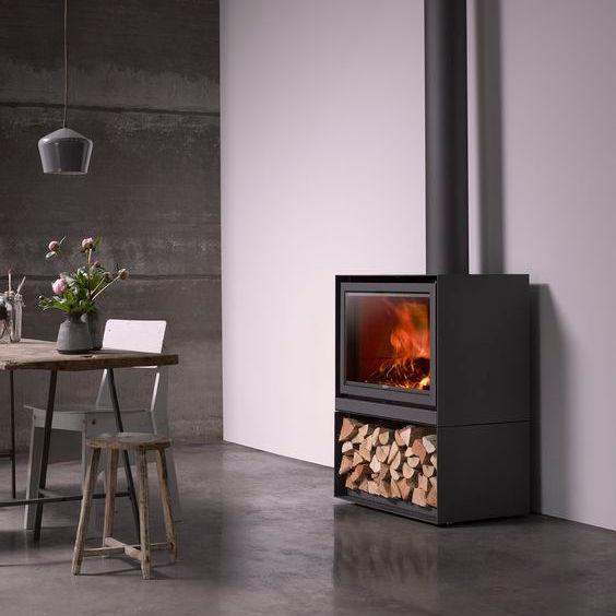 An image of Stuv Stoves - Stuv 16/78-H Wood Burning stove - Without outside air connector
