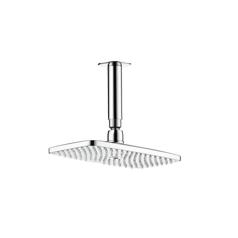 An image of Hansgrohe Raindance E240 AIR 1jet Overhead Shower with 100mm Ceiling Connector