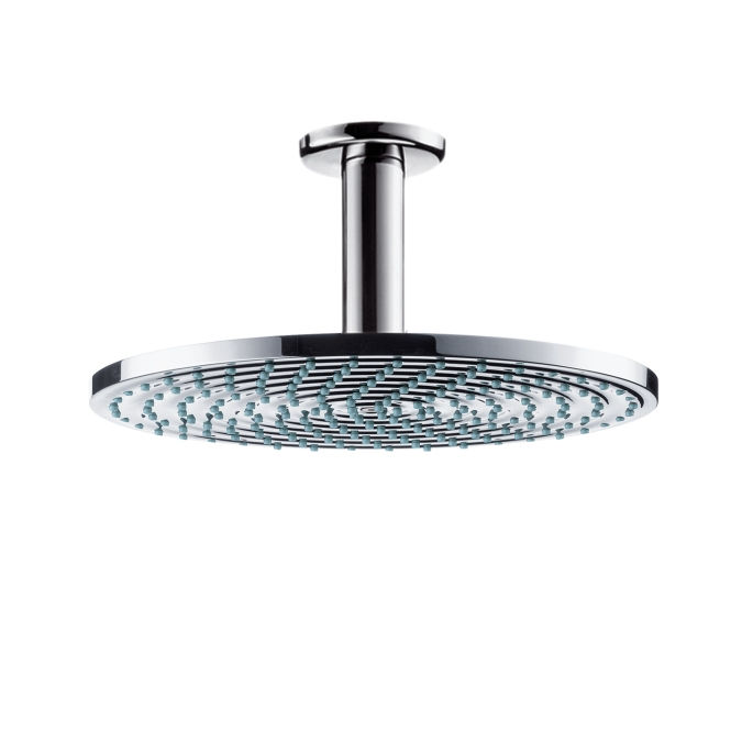 An image of Hansgrohe Raindance Air Plate Overhead Shower 240mm With Ceiling Connector - Chr...
