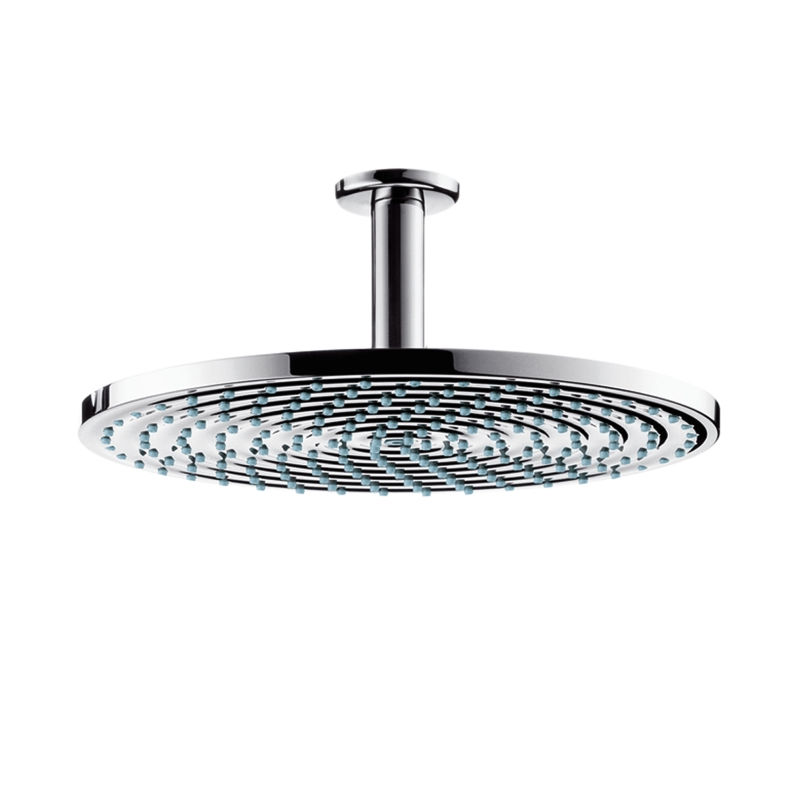 An image of Hansgrohe Raindance Air Plate Overhead Shower 300mm With Ceiling Connector - Chr...