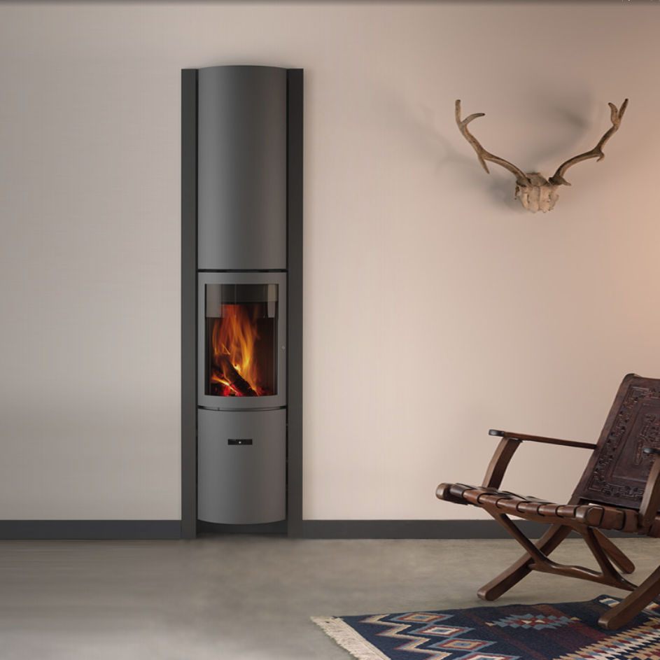 An image of Stuv Stoves - Stuv 30 Compact Inset Wood Burning Stove - Without outside air con...