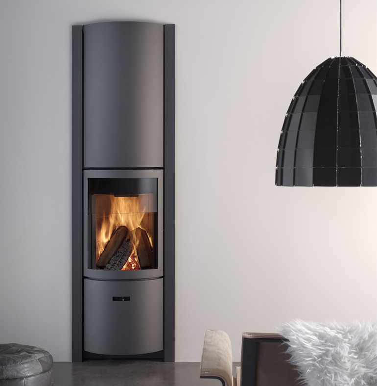 An image of Stuv Stoves - Stuv 30 Inset Wood Burning Stove - With outside air connector