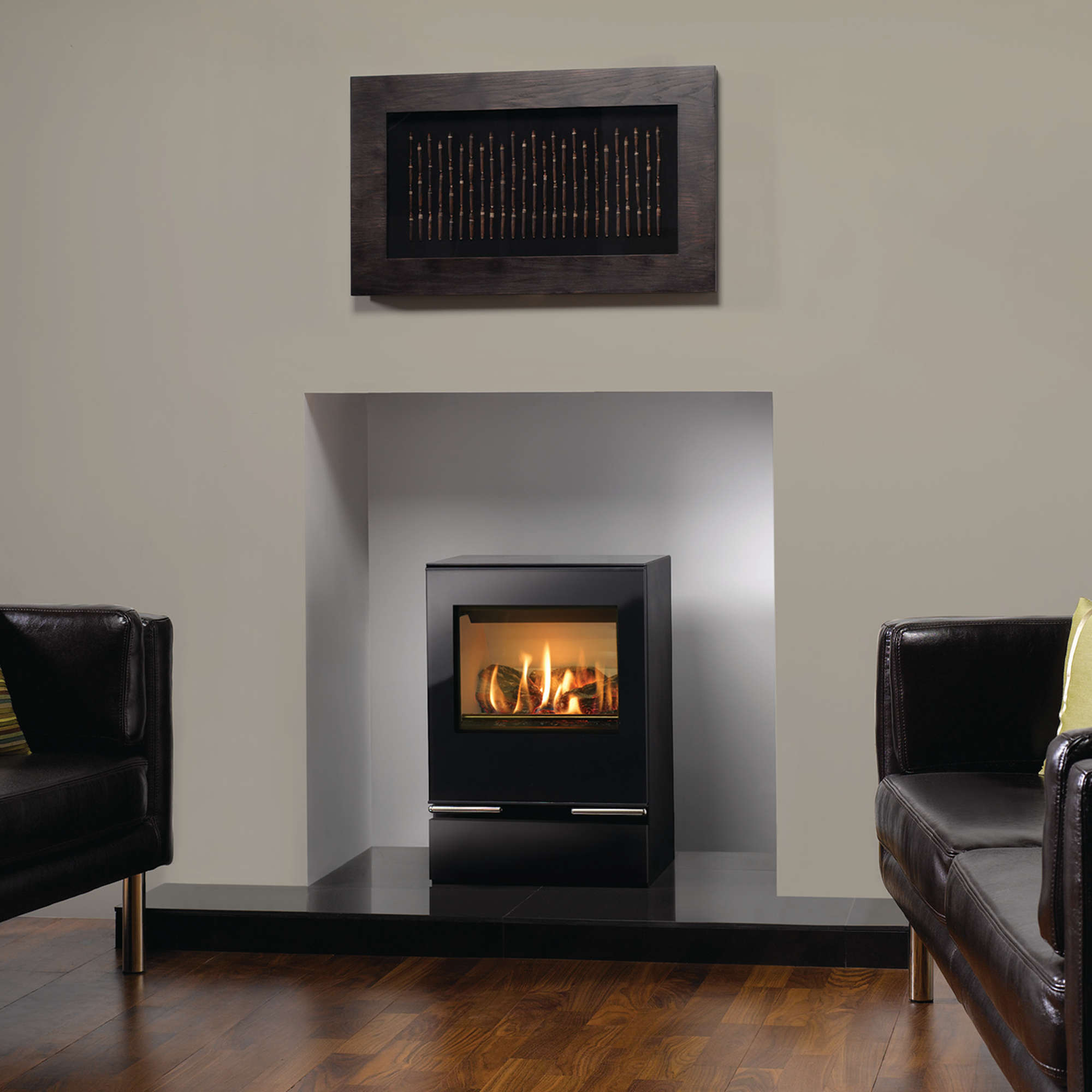 An image of Gazco Vision Midi Gas Stove - Conventional Flue - Natural Gas - rear