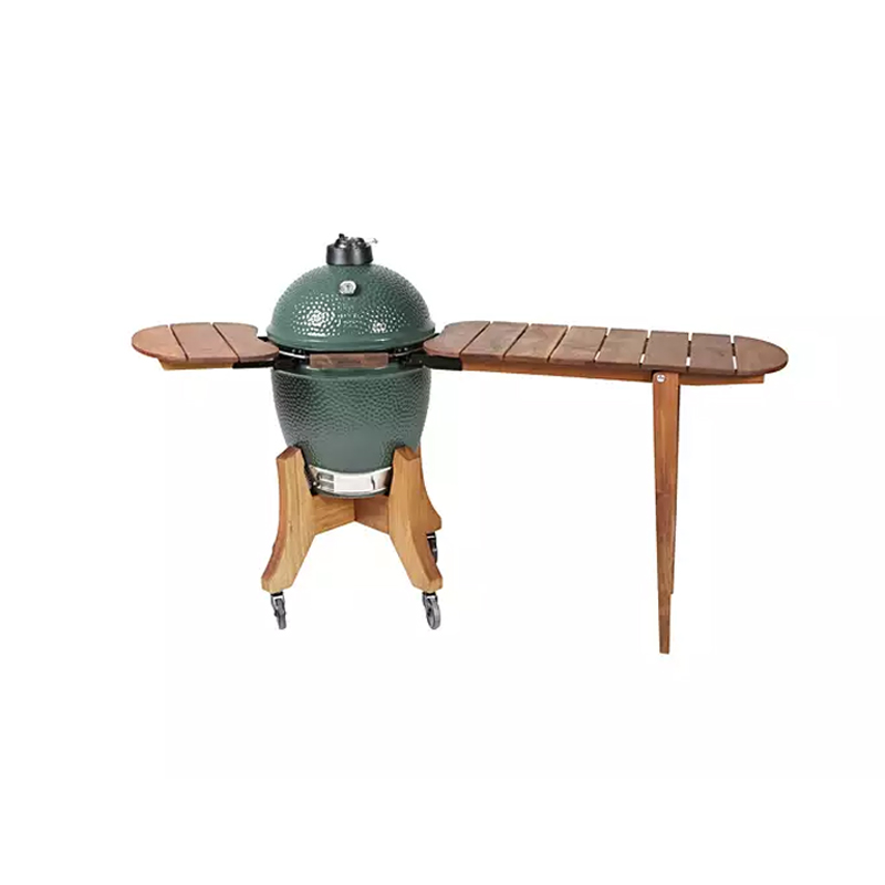 An image of Big Green Egg Medium Royal Mahogany Shelf & Bartop Set