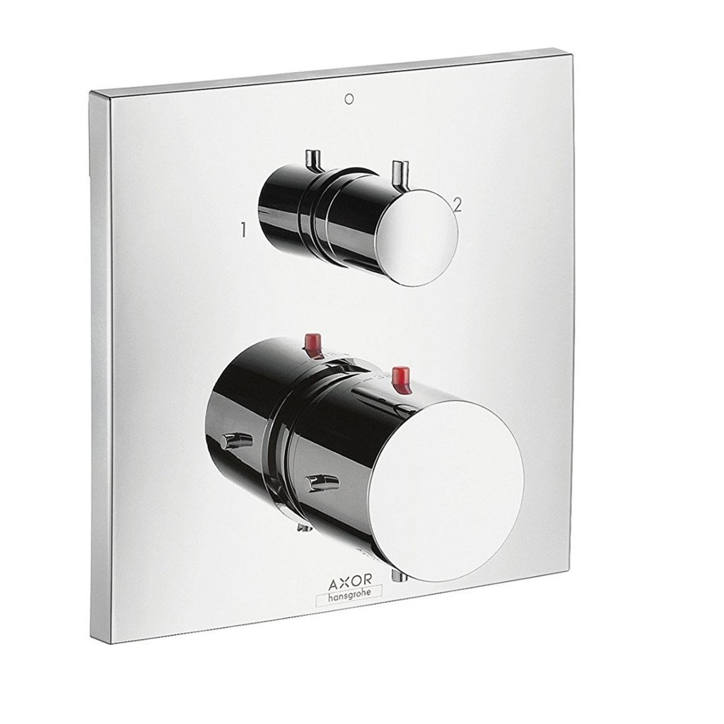 Axor - Starck X Thermostatic Mixer With Shut-Off & Diverter Valve