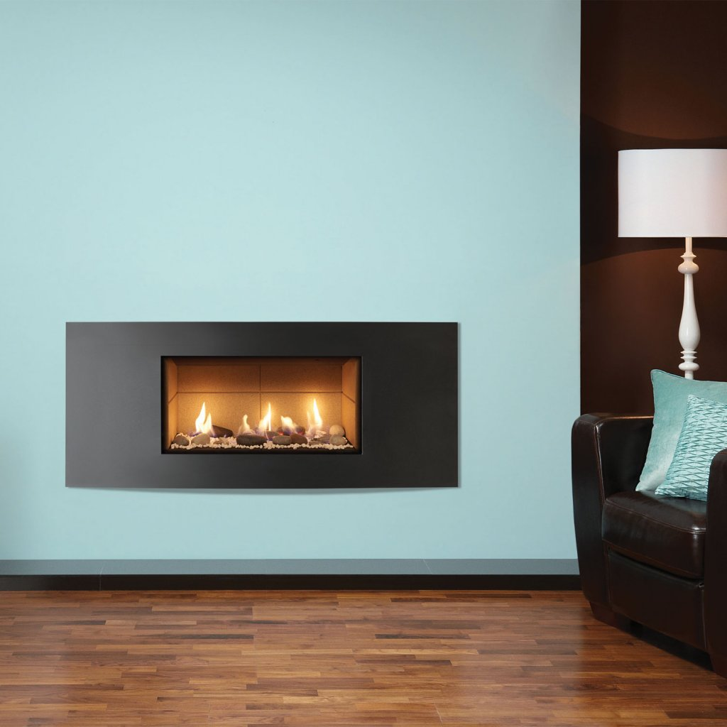 Gazco Gas Fires - Studio 1 Glass Fronted Inset, Verve Frame, Conventional Flue - Natural Gas