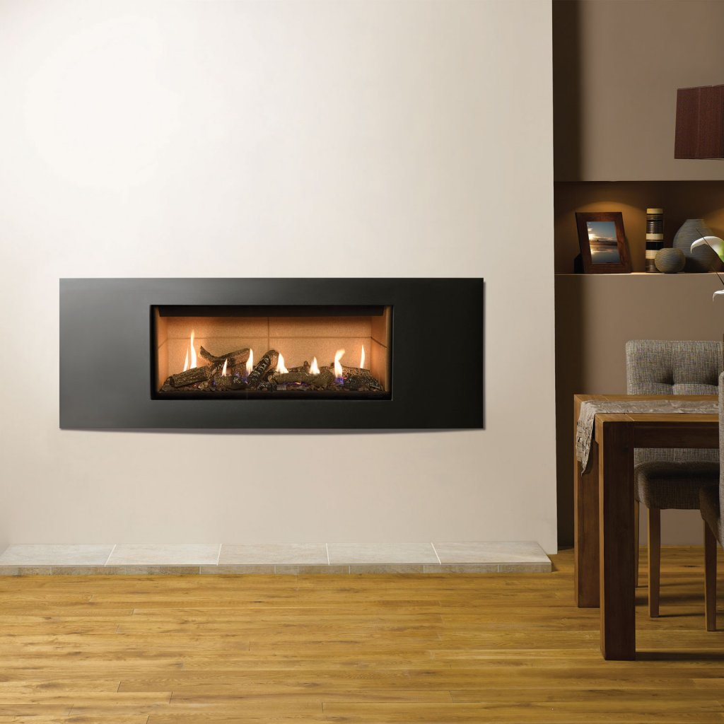 Gazco Gas Fires - Studio 2 Glass Fronted Inset, Verve Frame, Conventional Flue - Natural Gas
