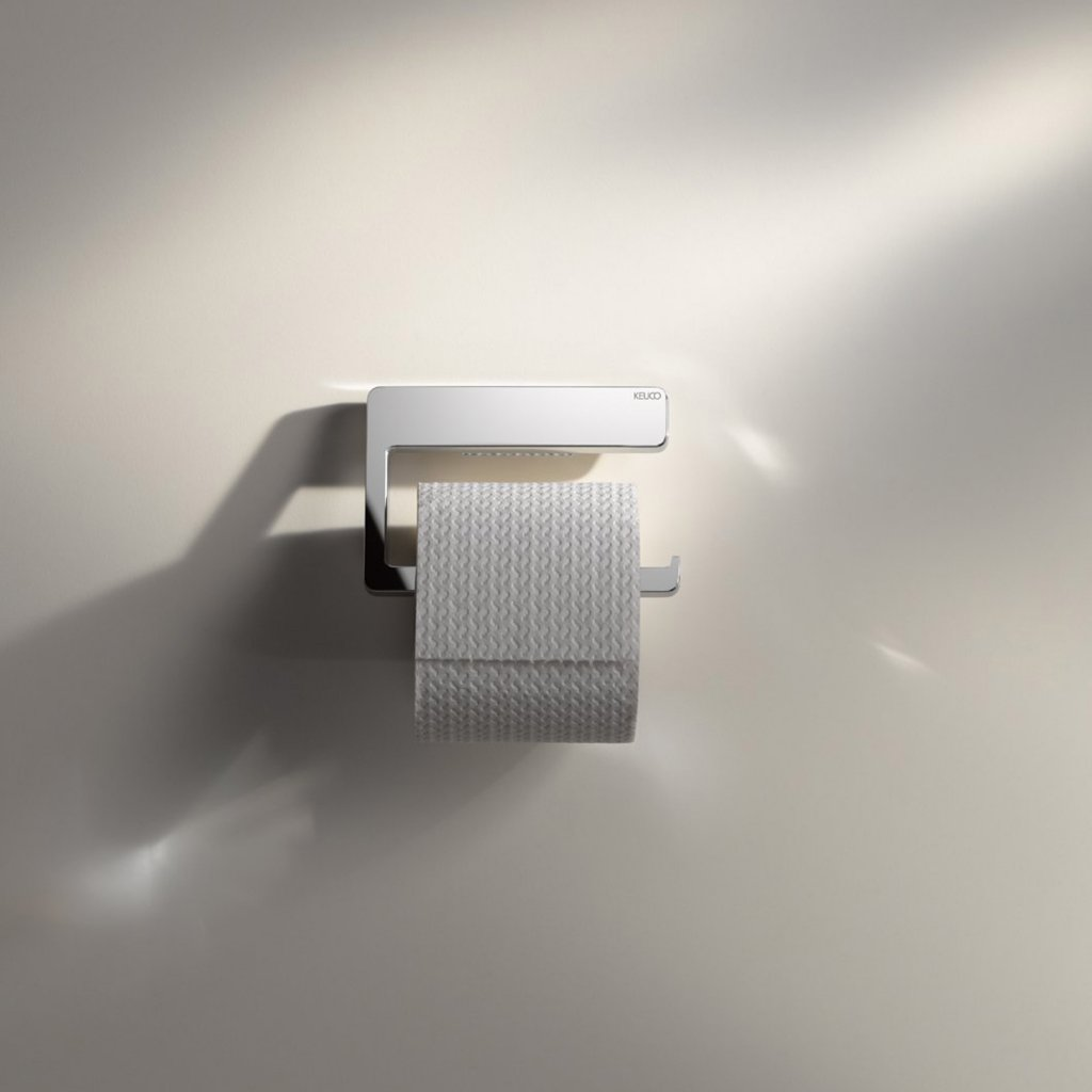 Keuco Moll Toilet Roll Holder in Chrome Plated Finish
