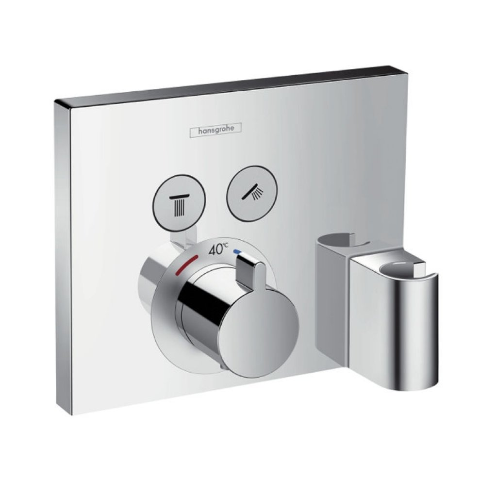 Hansgrohe ShowerSelect Thermostatic Mixer For 2 Functions With FixFit And Porter Unit