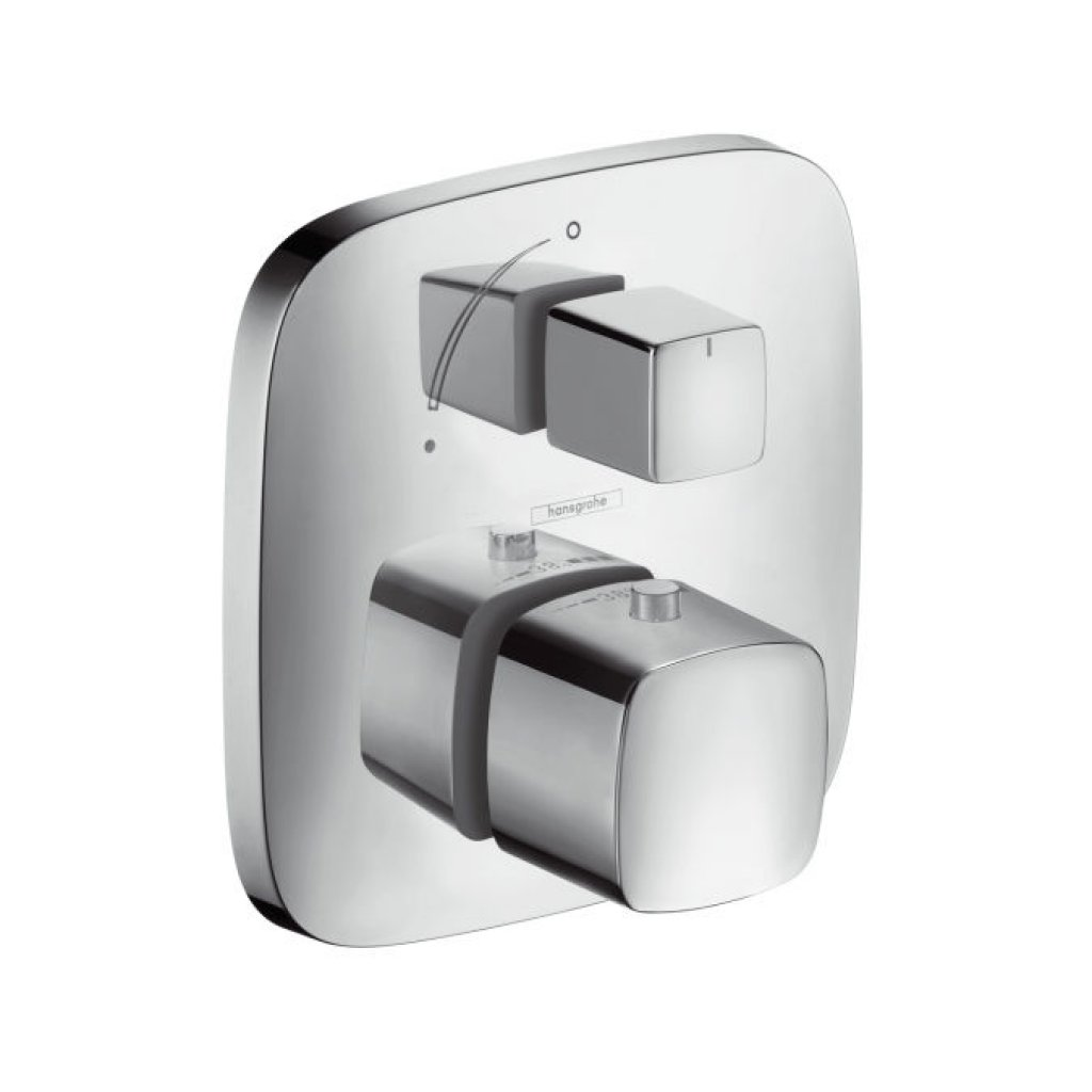 Hansgrohe PuraVida Thermostat With Shut-Off Valve - For Concealed Installation