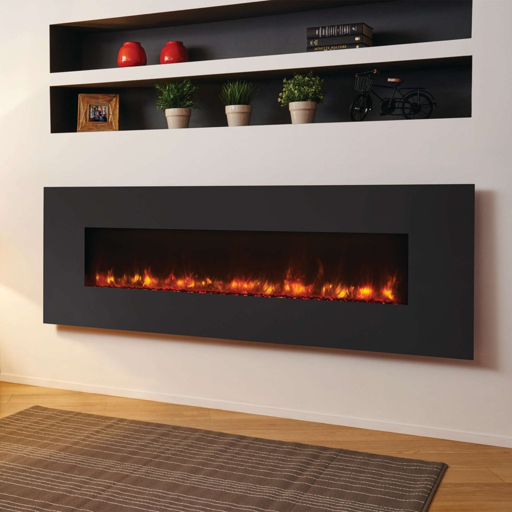 Gazco Radiance 150W Wall Mounted Steel Electric Fire