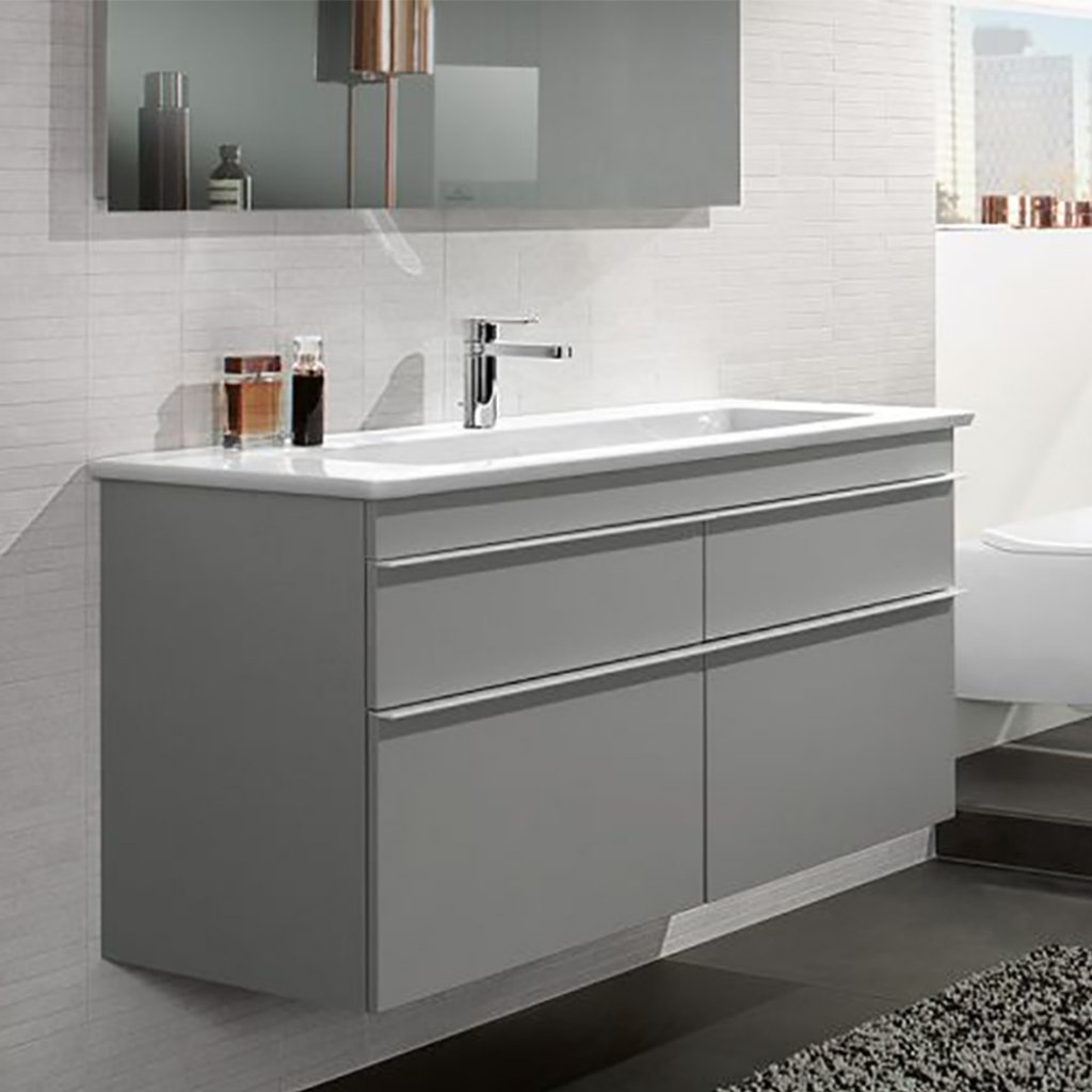 Villeroy & Boch Venticello Double Basin & Vanity Unit 1300x500mm Bundle
