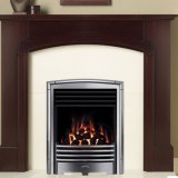 Valor Petrus Full Depth Homeflame Silver Chrome Inset Gas Fire - Natural Gas