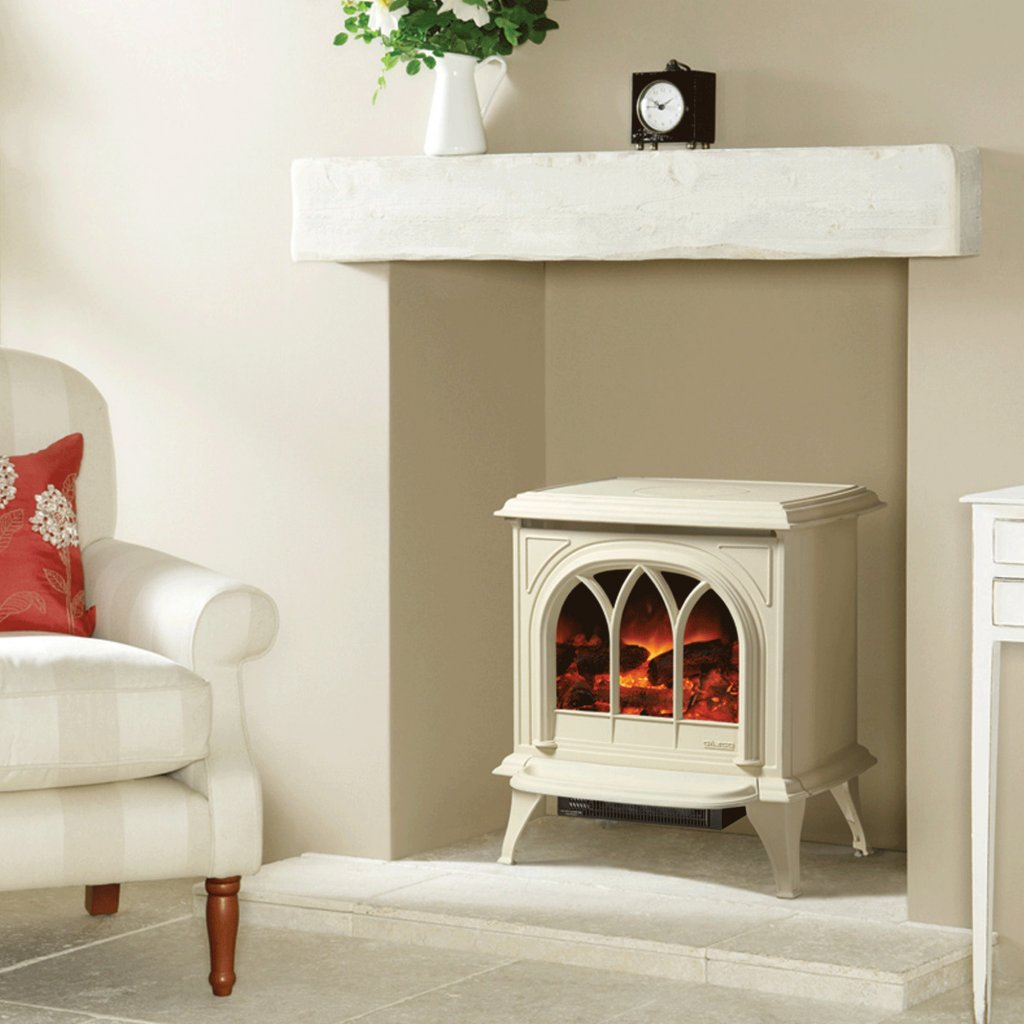 Huntingdon 30 Matt Ivory Electric Stove