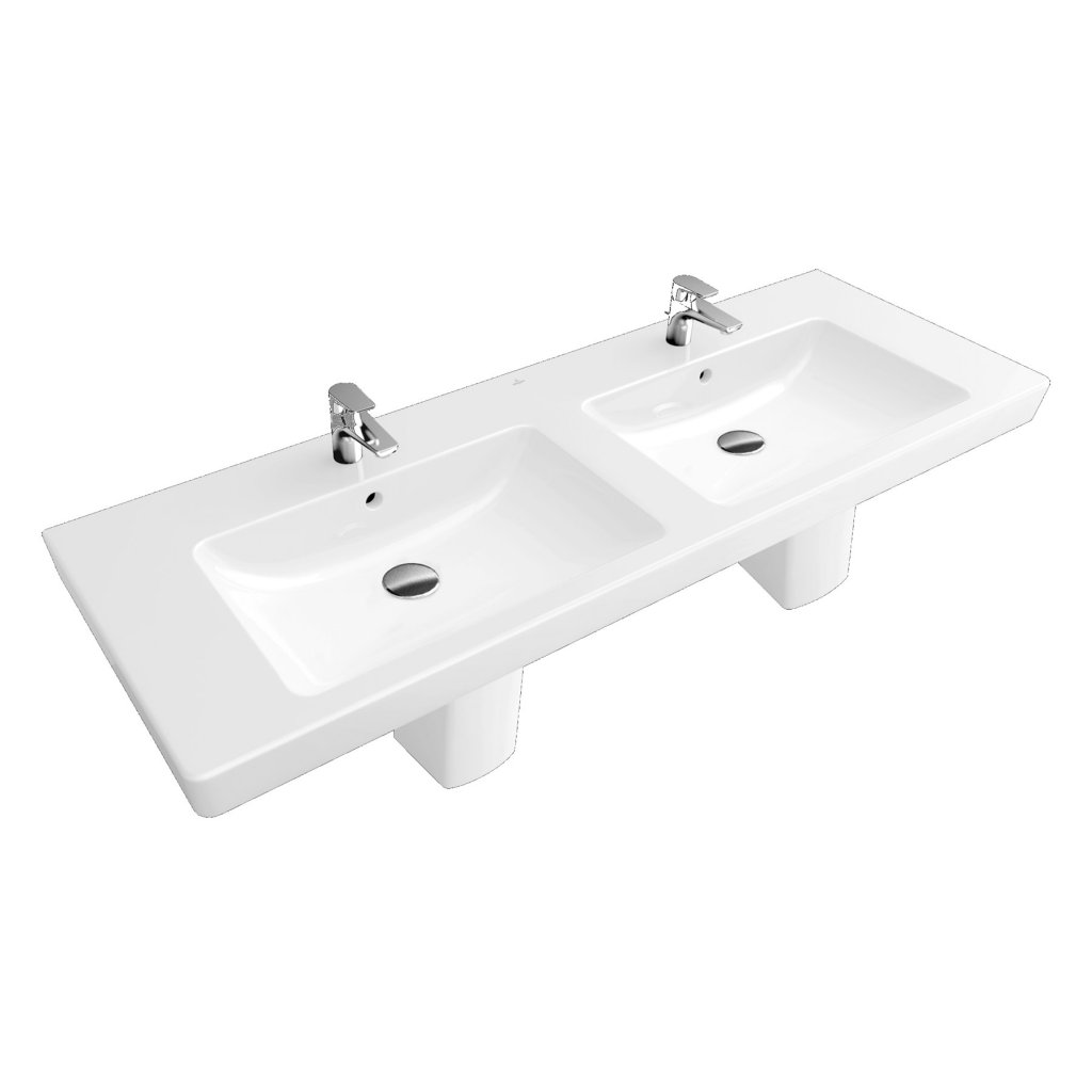 Villeroy & Boch Subway 2.0 Double Vanity Wash Basin 1300x470mm