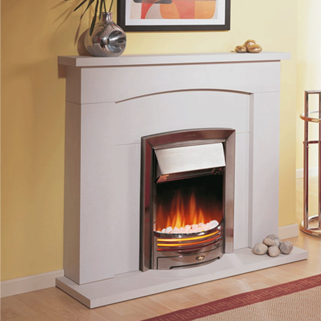 Dimplex Optiflame Adagio Chrome Inset Electric Fire