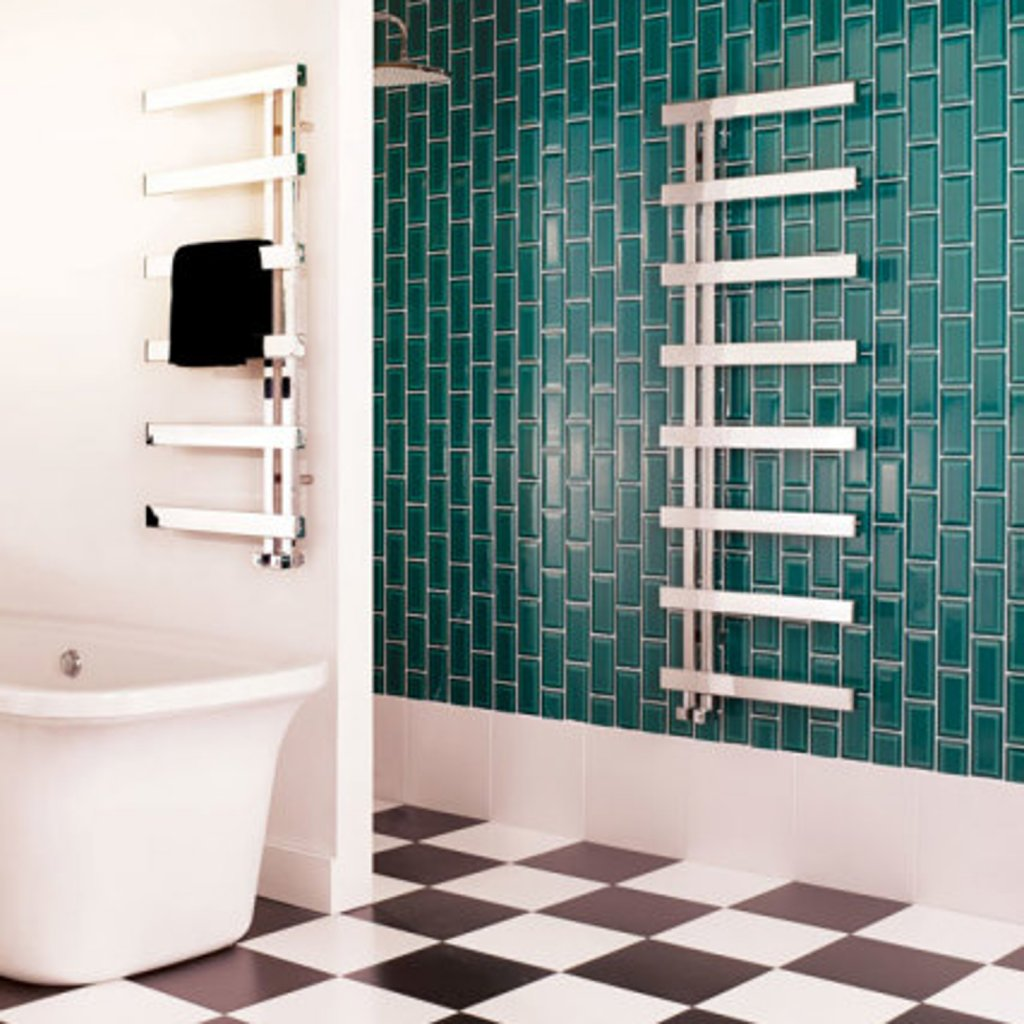Bisque Alban Heated Towel Rail - Available in 3 Sizes