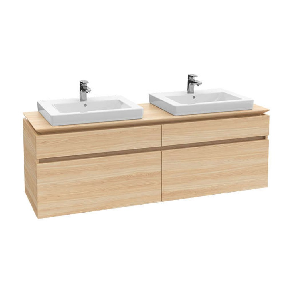 Villeroy & Boch Legato 1600mm Double Drawer Vanity Unit & 2 Basin Bundle
