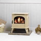 Clearance - Dovre 280 Ivory Enamel LPG Stove, Conventional Flue