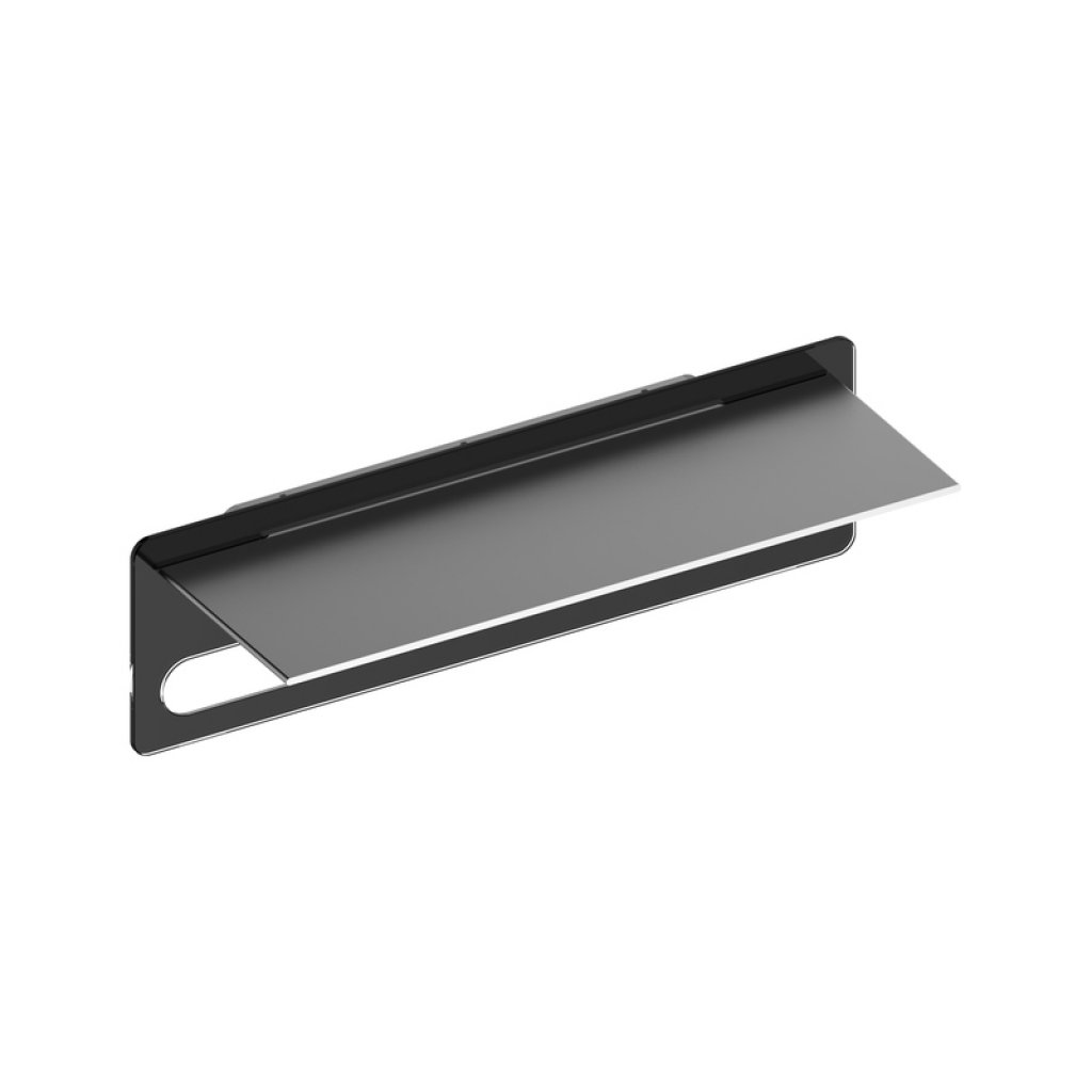 Clearance - Keuco Edition 400 Towel Rack Anthracite Glass