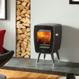 Dovre Stoves, Vintage 30, Wood Burning Stove In Matt Black - EcoDesign Ready