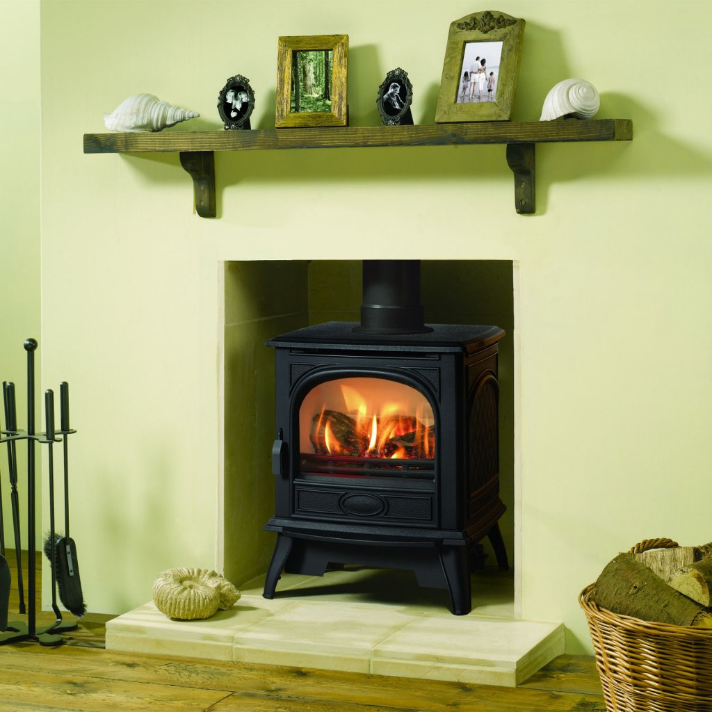 Dovre 280 Matt Black Cast Iron LPG Stove, Balanced Flue