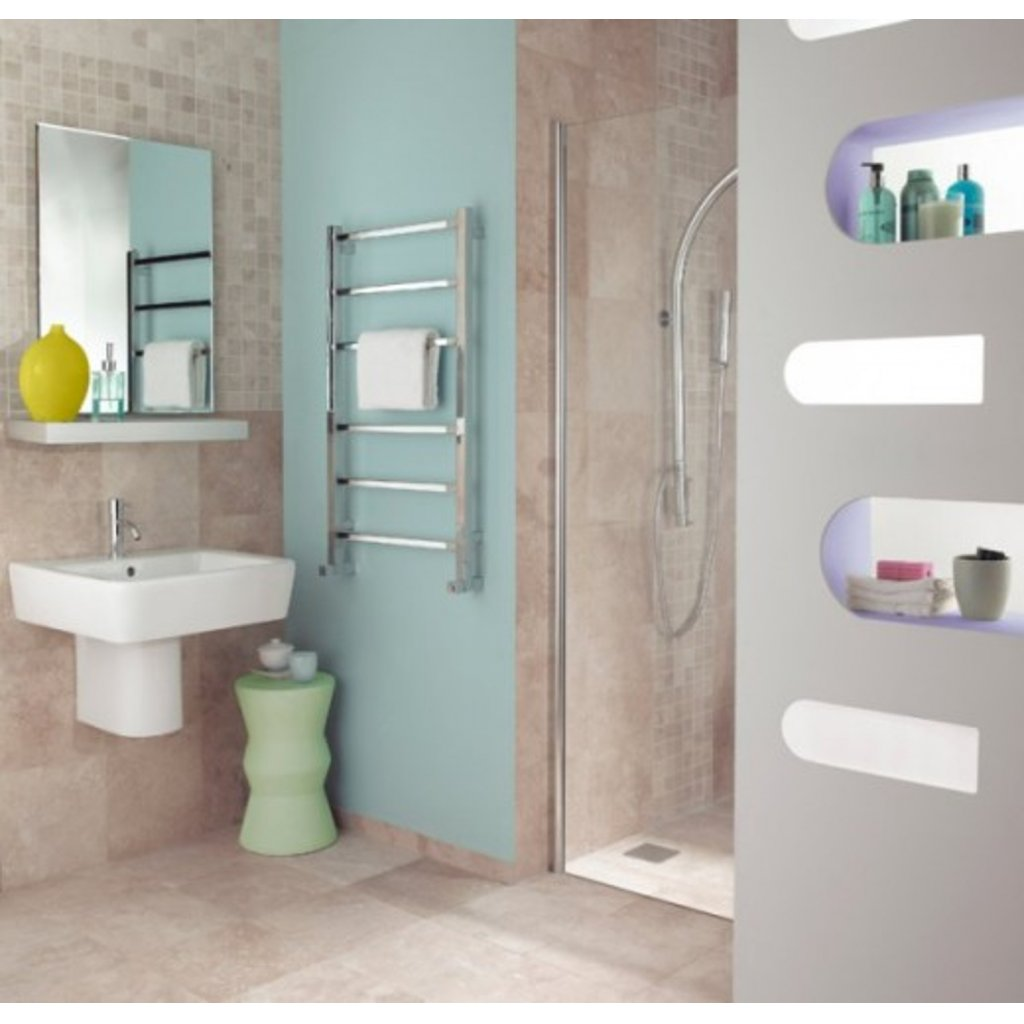 Bisque Gio Heated Towel Rail