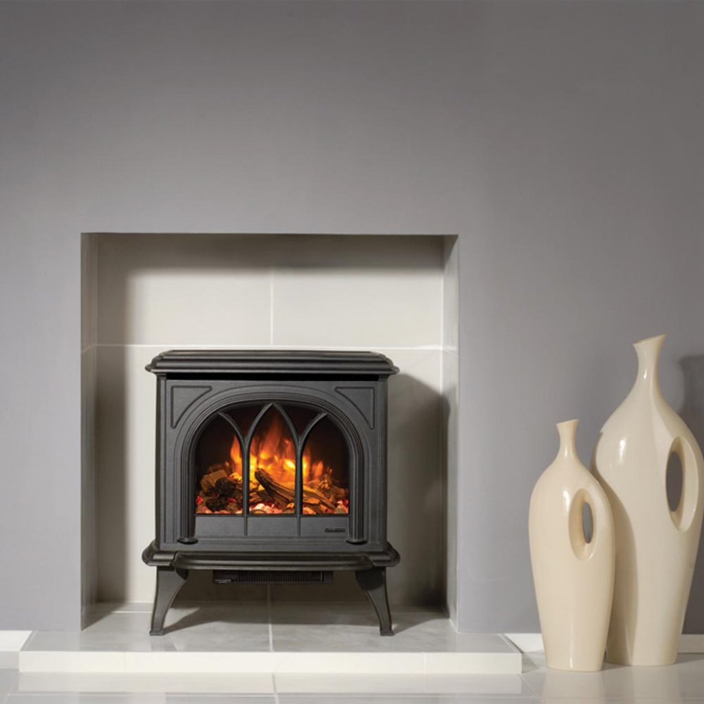 Huntingdon 30 Matt Black Electric Stove