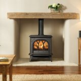 Huntingdon 30 Matt Black Gas Stove - Conventional Flue