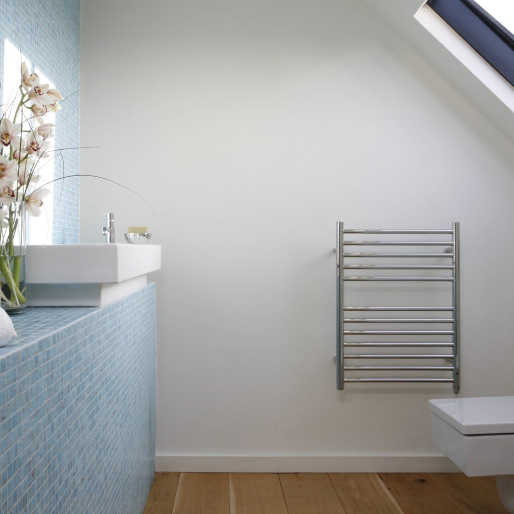 JIS - Ouse Heated Towel Rail - Polished stainless steel