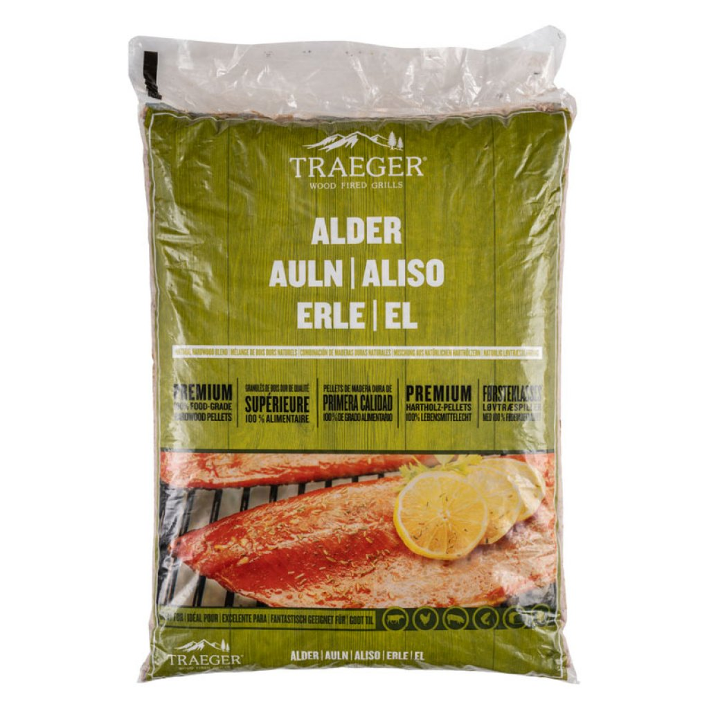 Traeger Smoker Accessories - Alder Pellets - 20LB BAG