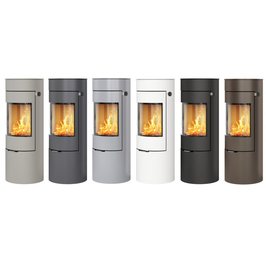 Rais Viva L 120 Classic Wood Burning Stove - Steel Framed Door