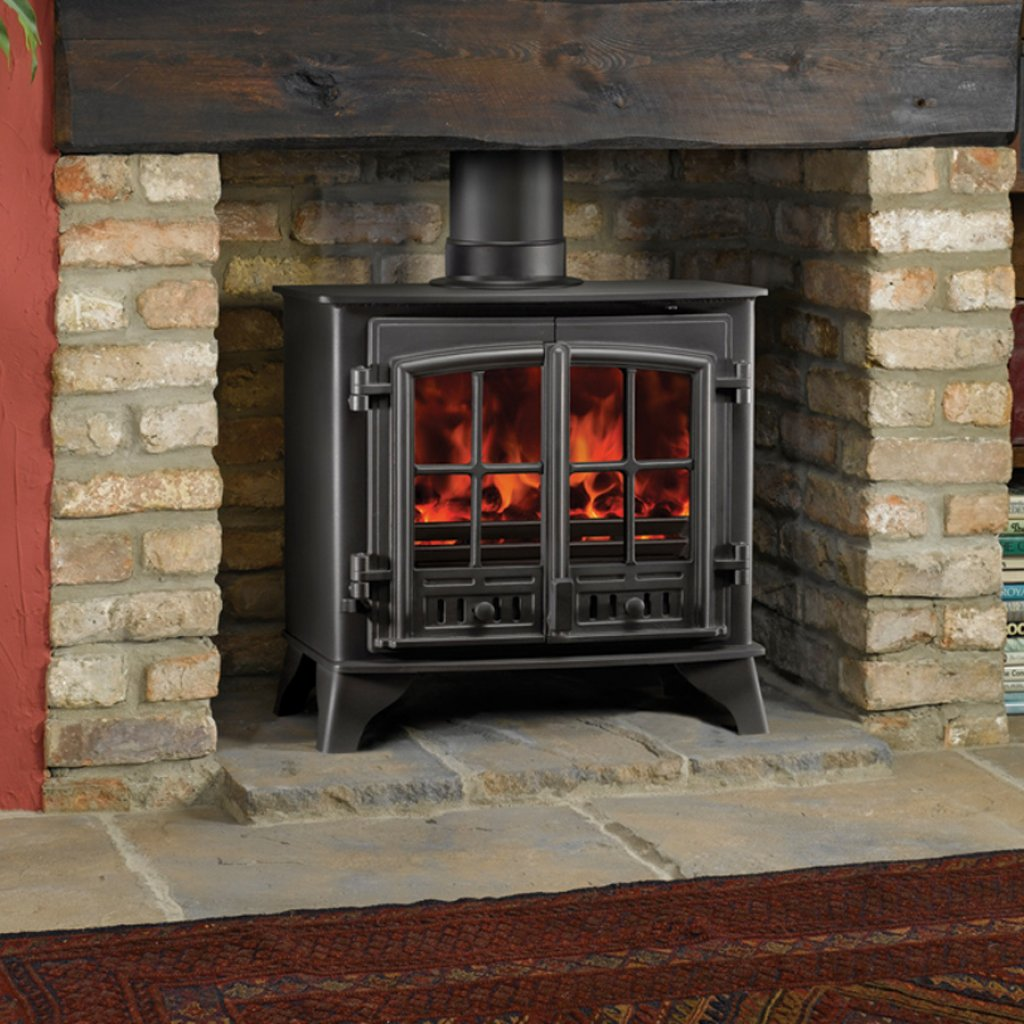 Clearance - Kensal Stoves - Kensal 40 Woodburning Stove In Black