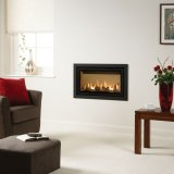 Gazco Gas Fires - Studio 1 Slimline Glass Fronted, Profil Frame In Anthracite, Balanced Flue - Natural Gas