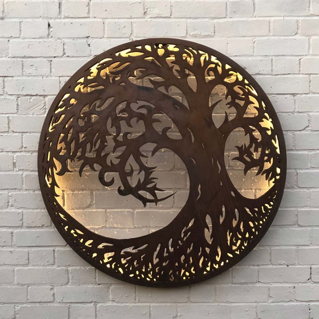 The Firepit Company Tree Of Life Illuminated Wall Art -