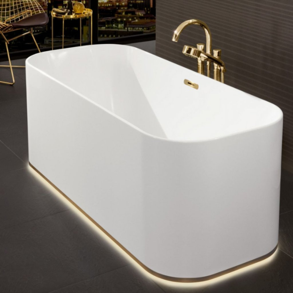 Villeroy & Boch Finion 1700x700 Freestanding Bath - Quaryl - 3 Waste Colour Options Available
