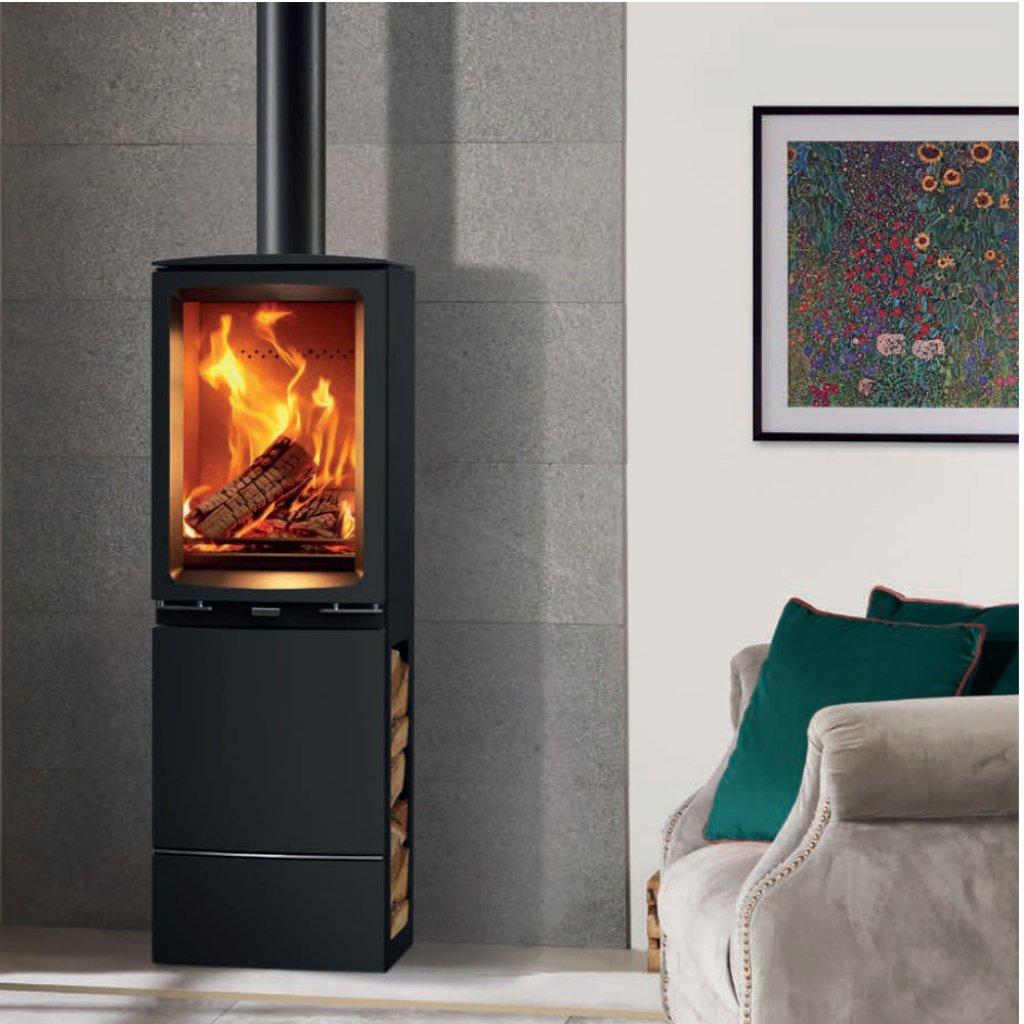 Stovax Stoves - Vogue Midi T Wood Burning Stove With Highline Base