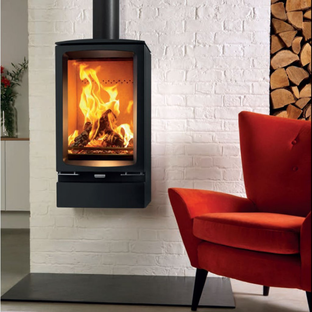 Peachy Stovax Stoves Vogue Midi T Wood Burning Stove Wall Hung Best Image Libraries Counlowcountryjoecom