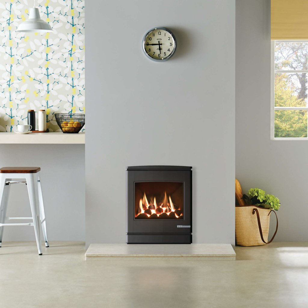 Yeoman CL7 Inset Gas Fire, Balanced Flue - Natural Gas