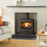 Yeoman CL8 Gas Stove, Conventional Flue With Log Fuel Effect