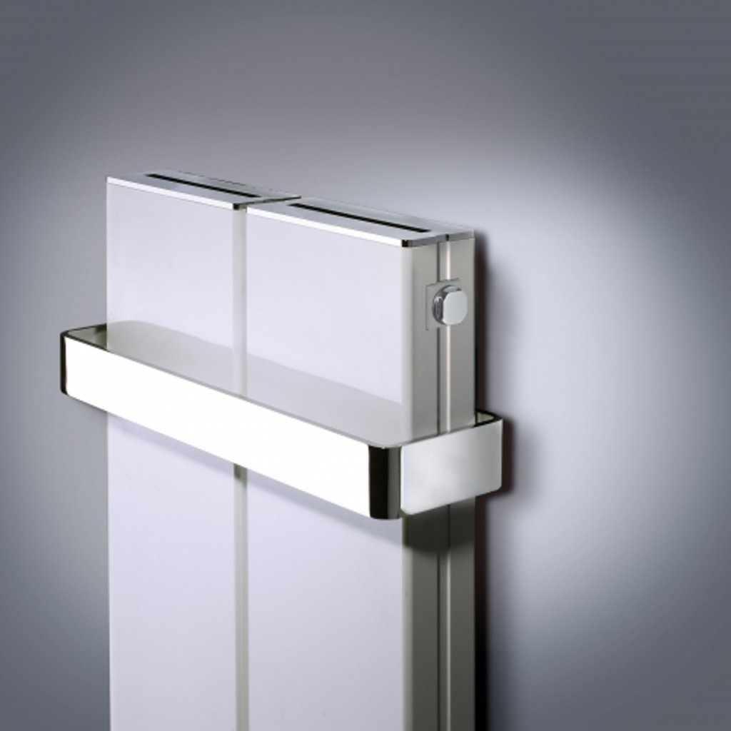 Bisque Blok Heated Towel Rail